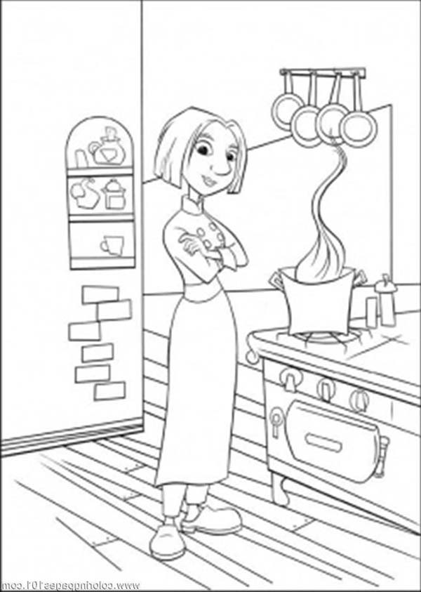 Colette in the Kitchen Coloring Pages Download Print Online