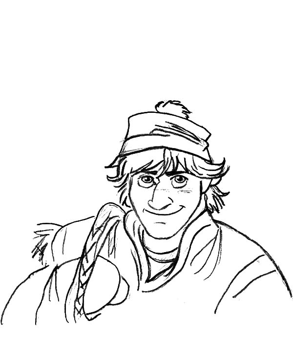 Disney frozen character kristoff coloring pages download for Coloring pages for frozen characters