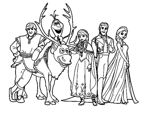 Disney Frozen Kristoff And Friends Coloring Pages