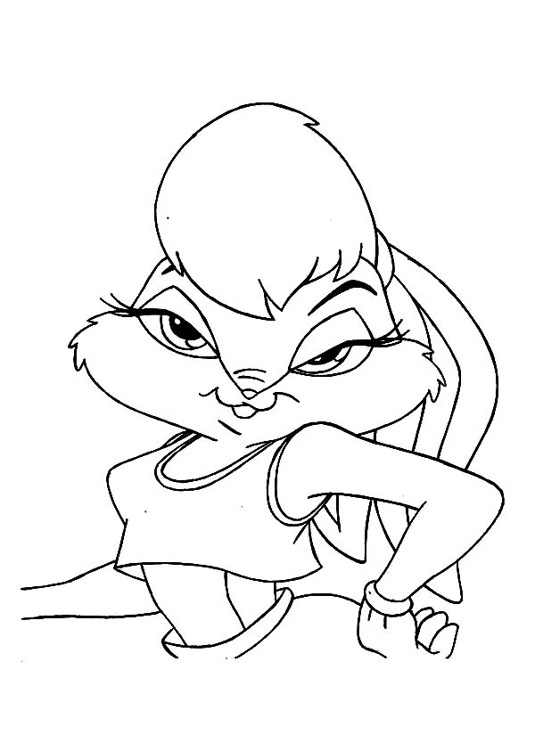 Drawing Lola Bunny Coloring Pages Download Amp Print