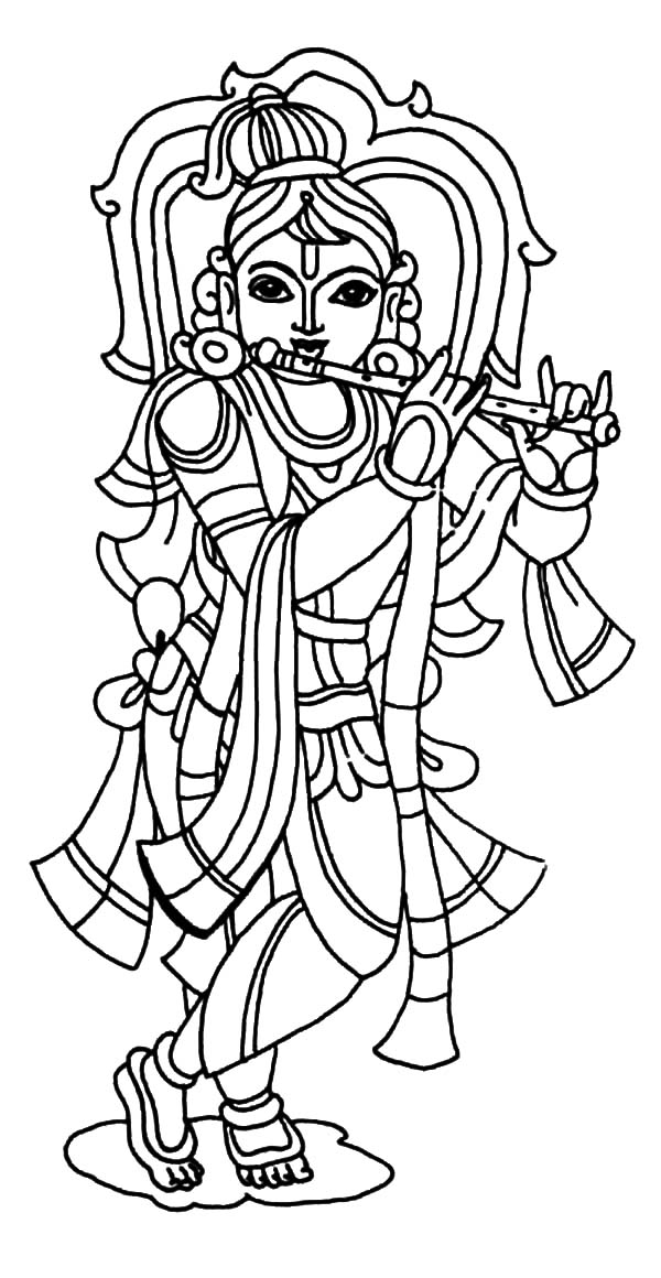 Lord baby sri krishna free coloring pages for Coloring pages of krishna