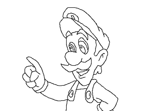 Drawing luigis mansion coloring pages coloring pages for Luigi s mansion coloring pages
