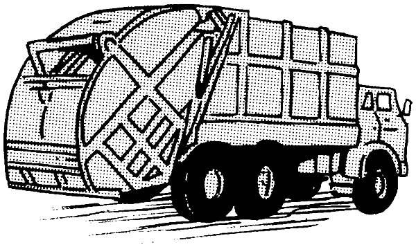 Garbage Truck, : Driving Garbage Truck Coloring Pages