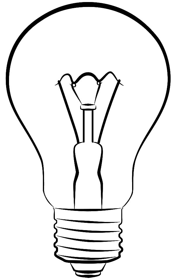 light bulb coloring page sketch coloring page
