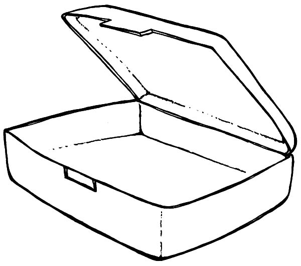 Empty Lunchbox Coloring Pages