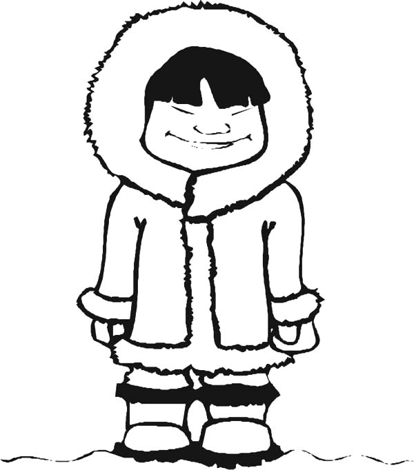 inuit coloring pages - eskimo girl close her eyes coloring pages download