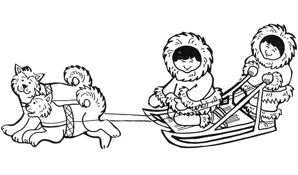 american eskimo coloring pages - photo#34