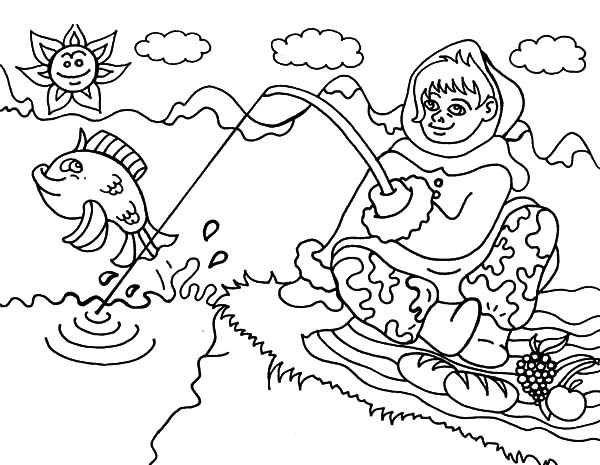 Put all garbage inside truck coloring pages download for Alaska coloring pages