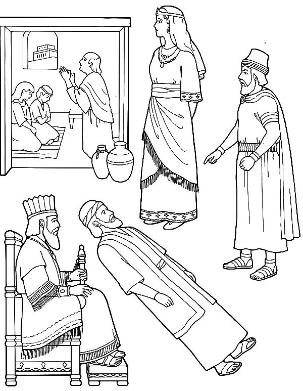 Esther Married to King Ahasuerus Coloring Pages