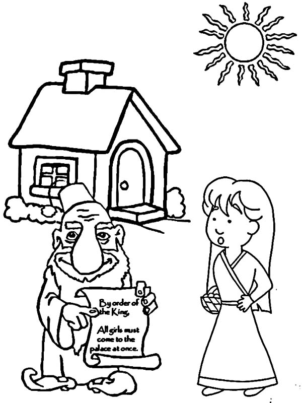 Free Coloring Pages Of Queen Esther And Mordecai