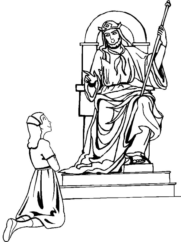 esther and king ahasuerus coloring pages