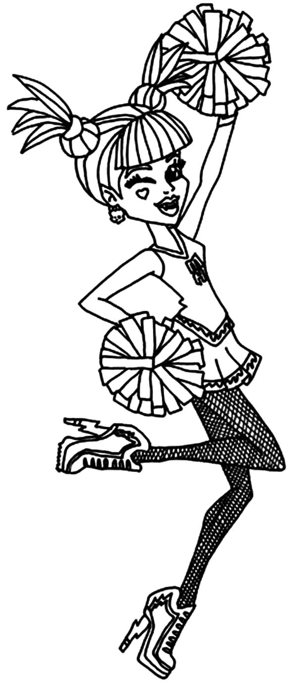 ever after high cheerleader coloring pages download u0026 print
