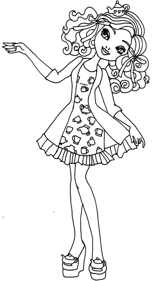 Ever After High Madeline Maddie Coloring Pages - Download & Print ...