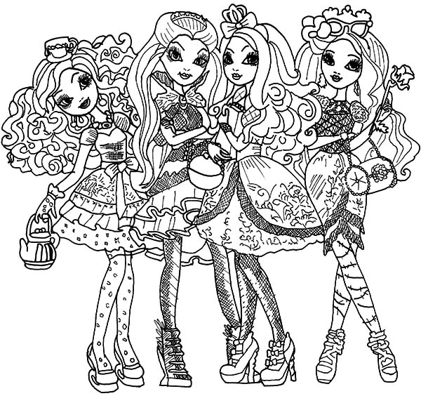Ever After High Ready To Go Party Coloring Pages