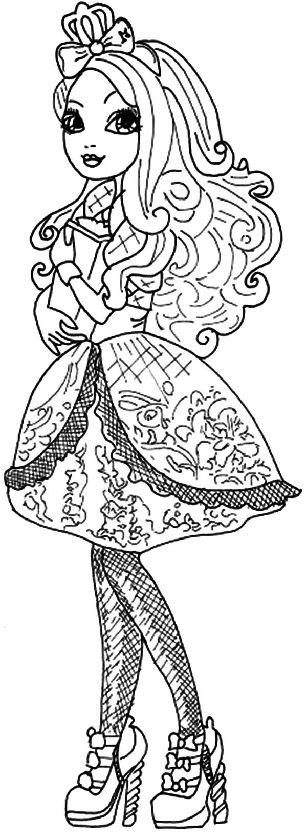 Ever After High Slowly Walking Coloring Pages