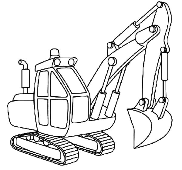 Excavator Outline Coloring Pages - Download & Print Online Coloring ...