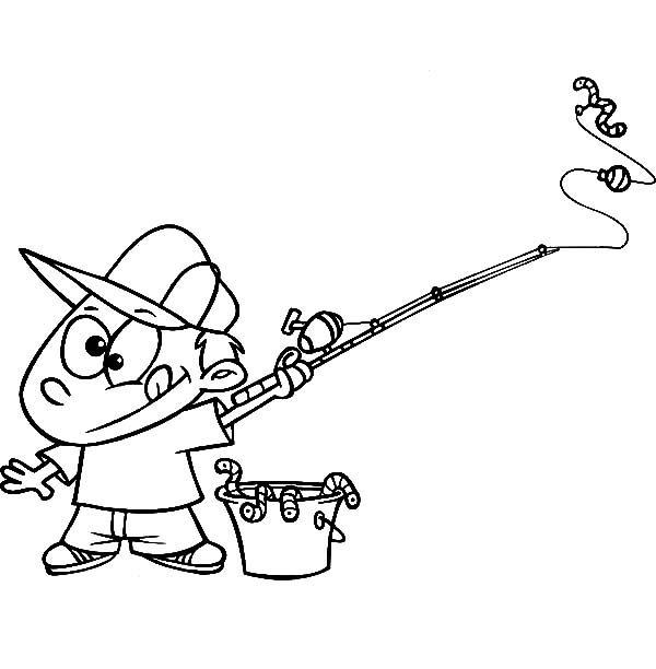 free fishing pole coloring pages - photo#40