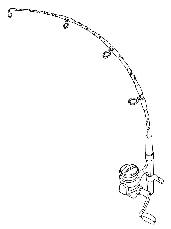 Fishing Pole Bending Coloring Pages PagesFull Size Image
