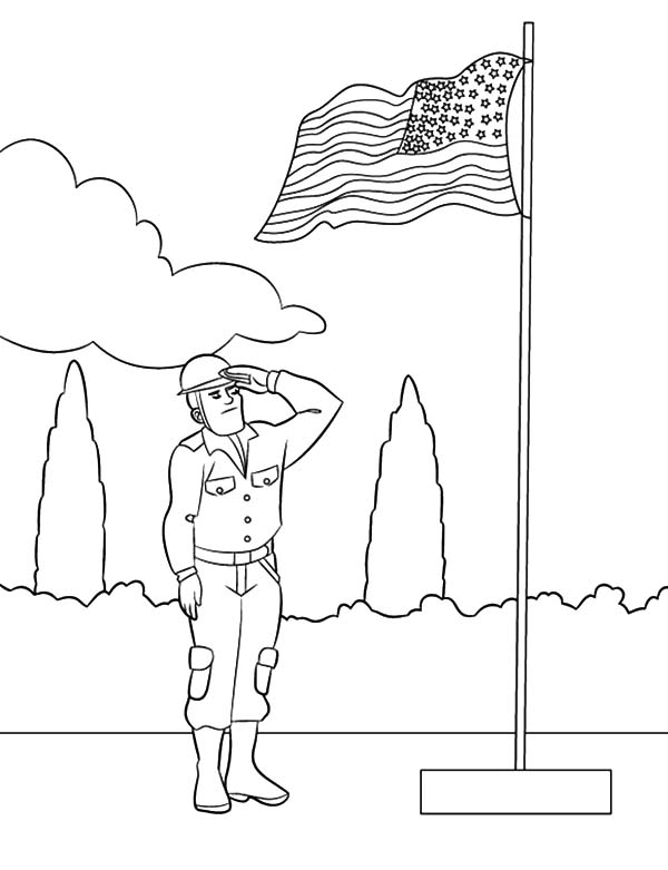 Flag Day Morning Ceremony Coloring Pages Download Print Online