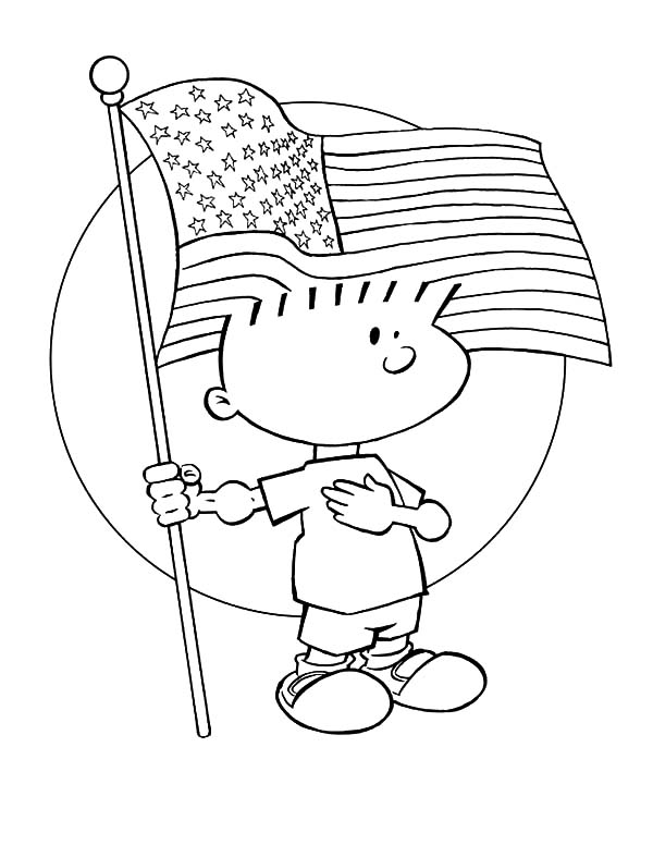 Flag Day Fourth Of July Coloring Pages