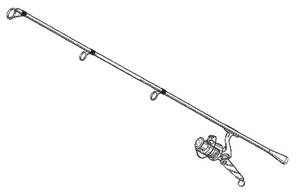 Fresh Water Fishing Pole Coloring Pages