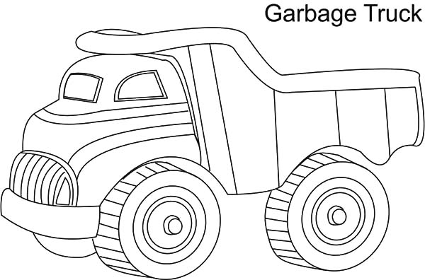 Garbage Truck, : Garbage Truck Coloring Pages