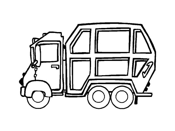 trash truck coloring pages - photo#8