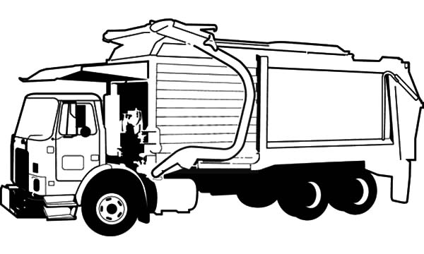 garbage truck picture coloring pages