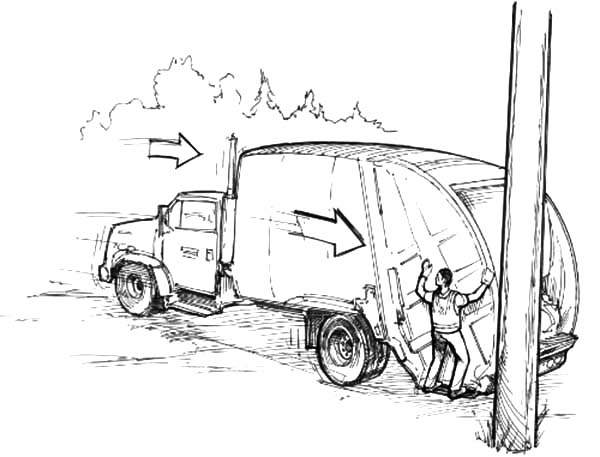 Garbage Truck, : Garbage Truck and Garbage Man Coloring Pages