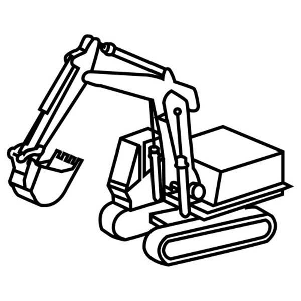 general grading excavator coloring pages