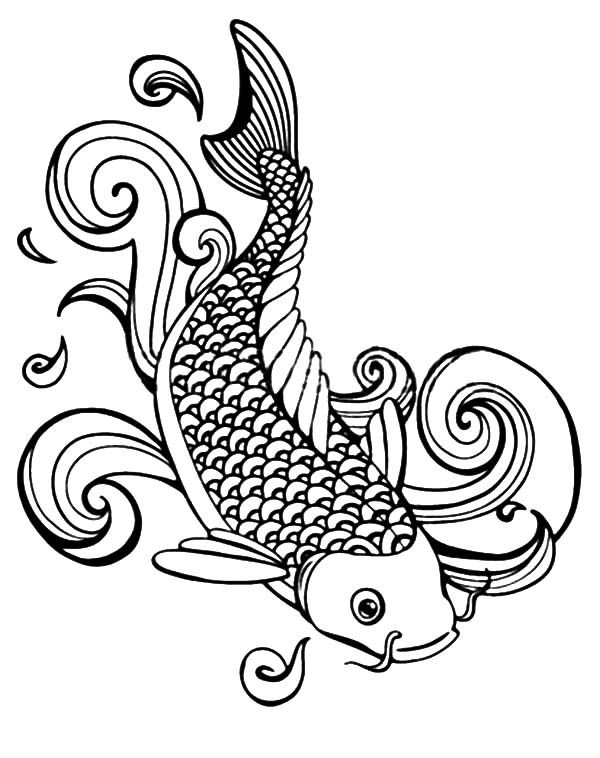 Gosanke Koi Fish Coloring Pages