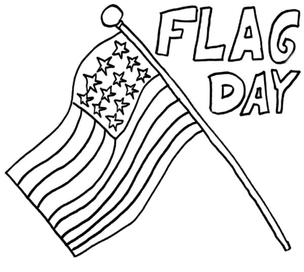 coloring pages for flag day - photo#5