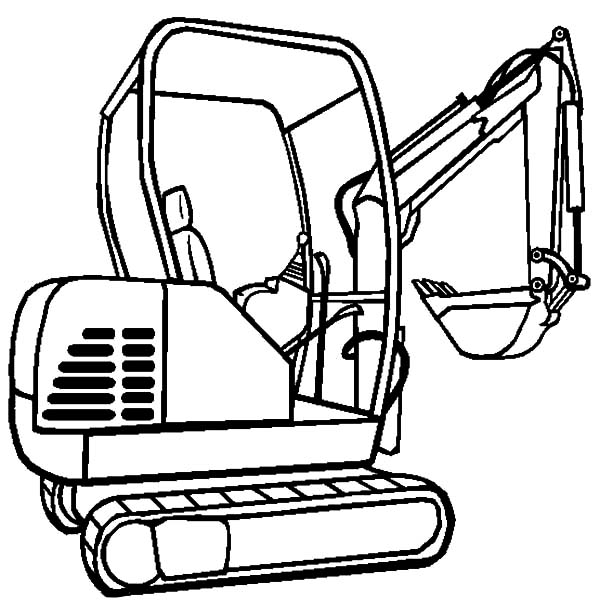 Heavy Equiptment Excavator Coloring Pages