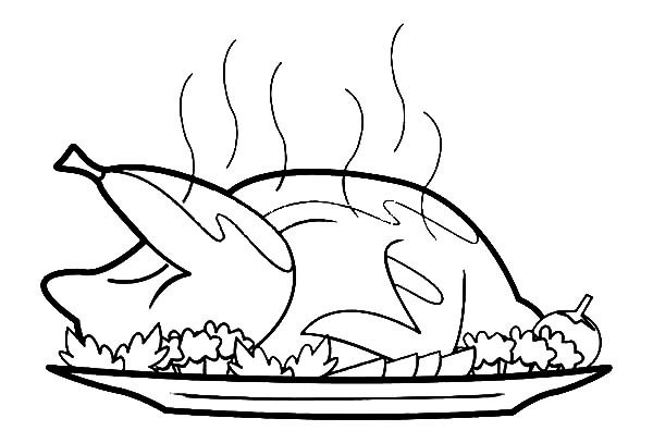 Hot Fried Chicken Coloring Pages