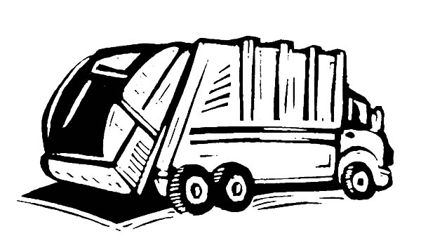 Garbage Truck, : How to Draw Garbage Truck Coloring Pages