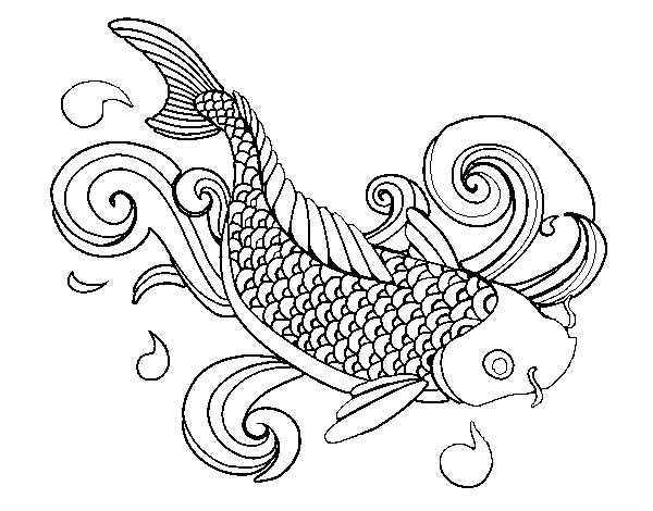 Koi Fish How To Draw Coloring Pages