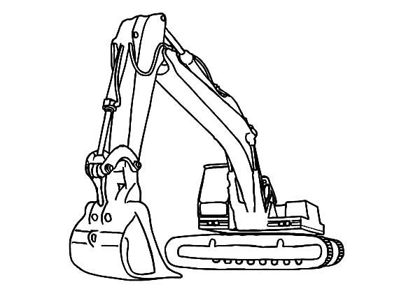 Rock Loader Excavator Coloring