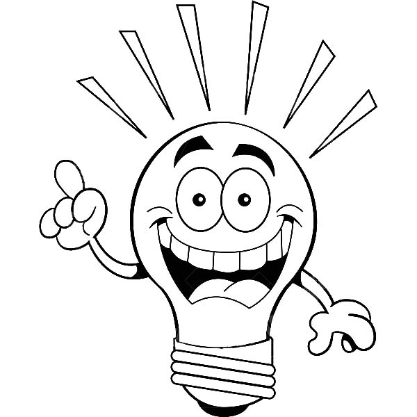I Have an Idea Light Bulb Coloring Pages Download Print Online