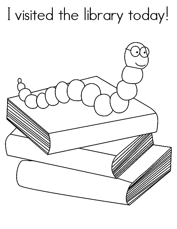library i visited the library today coloring pages i visited the library today coloring