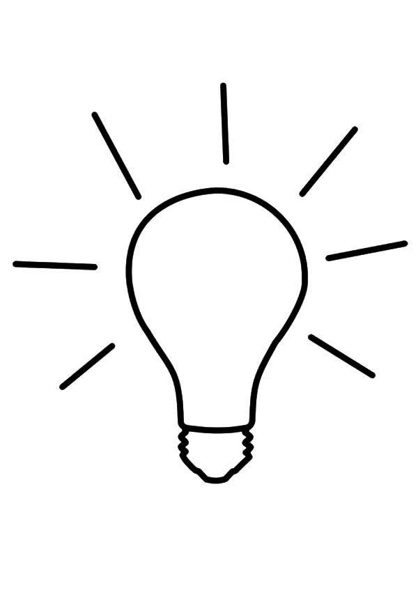 Bulb Idea Light Bulb Coloring Pages