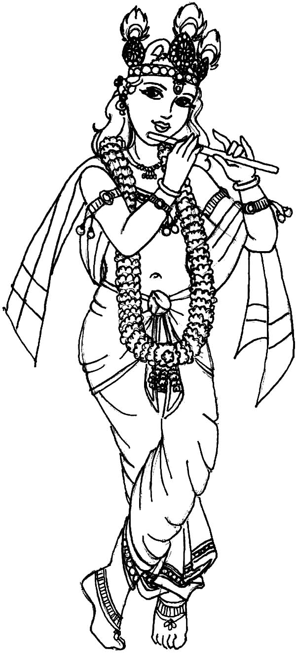 krishna having good time with balarama coloring pages download