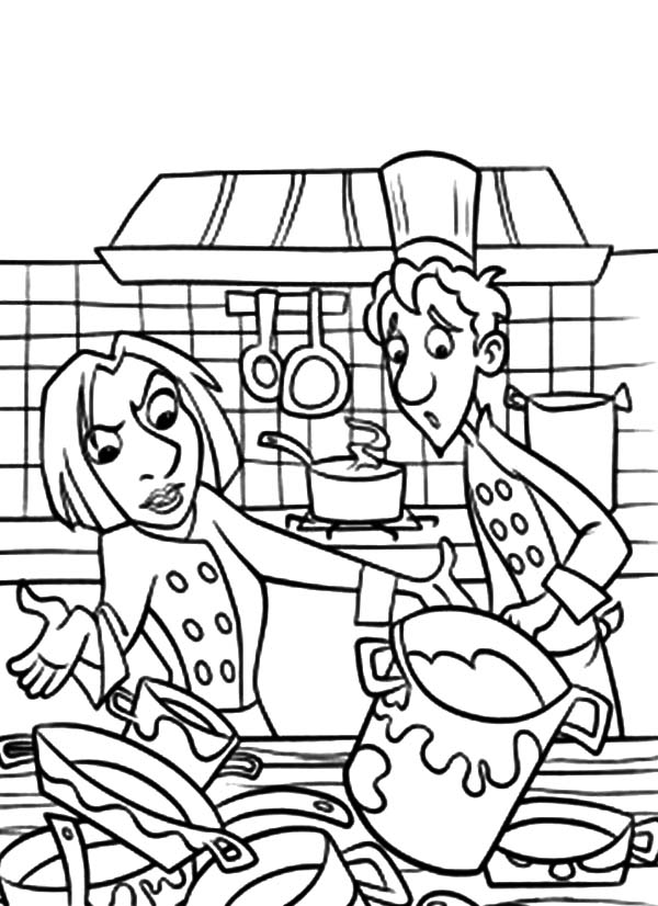 How to Draw Kitchen Coloring Pages How to Draw Kitchen Coloring