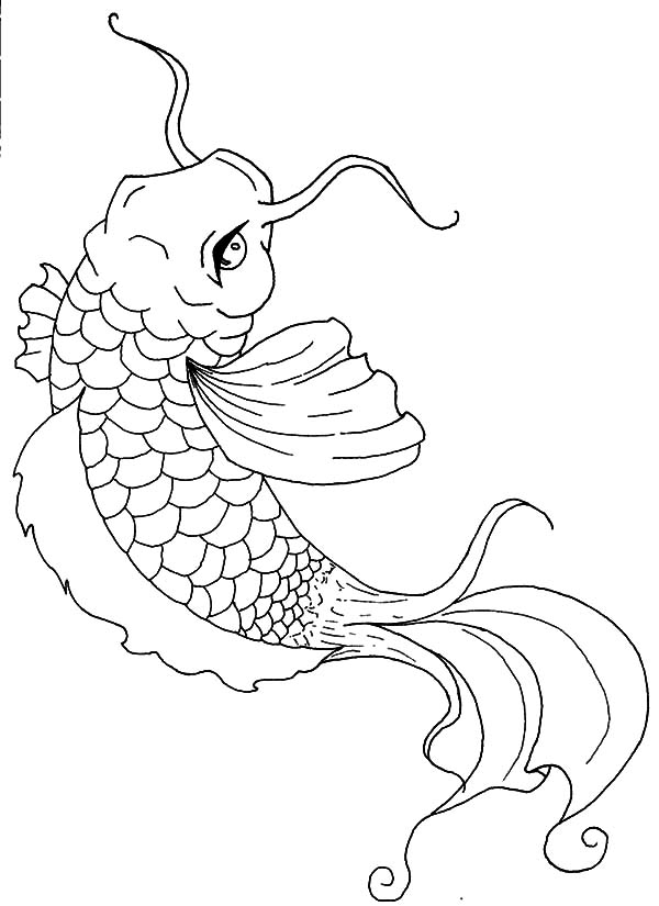 Koi Fish Painting Coloring Pages: Koi Fish Painting Coloring Pages ...