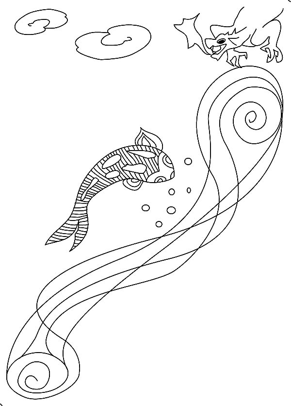 dragon fish coloring pages - photo#10