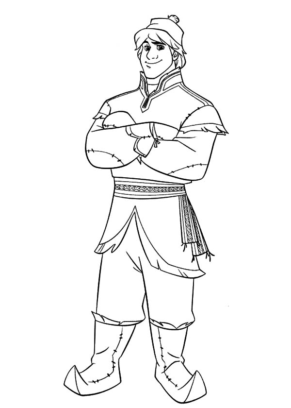 Kristoff Standing Still Coloring Pages