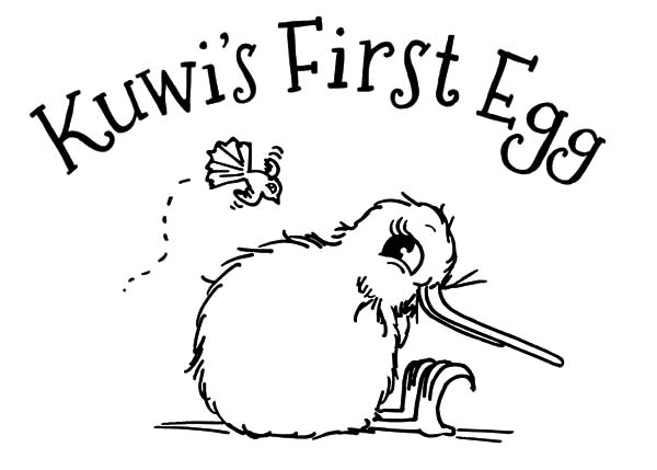 Kuwi First Egg Kiwi Bird Coloring Pages - Download & Print Online ...