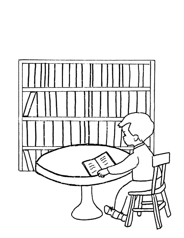 Library Be Quiet Please Coloring Pages - Download & Print Online ...