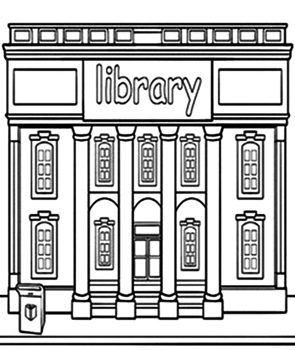 Library Building Coloring Pages Download Print Online Coloring
