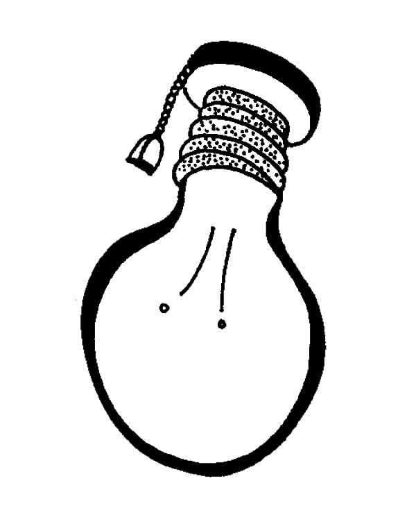 Light Bulb Hanging in My Room Coloring Pages