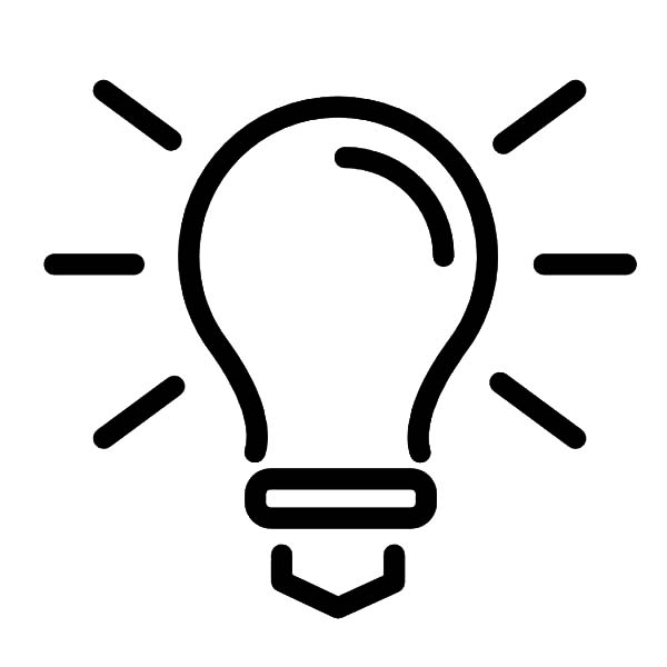 light bulb outline coloring pages